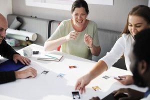 staff members in a meeting