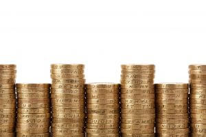 picture of a stack of pound coins