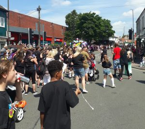 parade hits Long Eaton town centre to entertain crowds