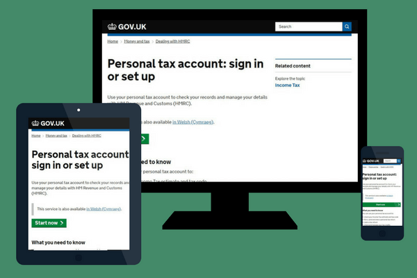 hmrc personal tax account snapshot