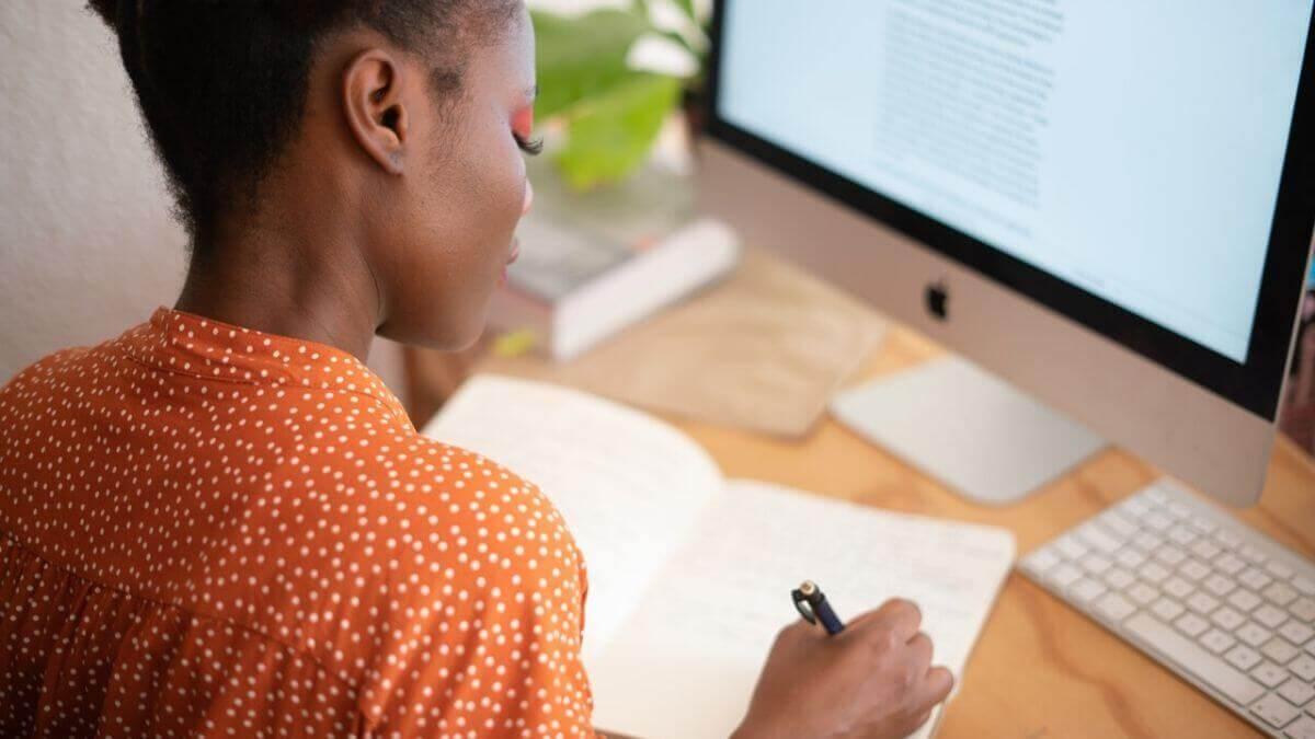 closeup of women working